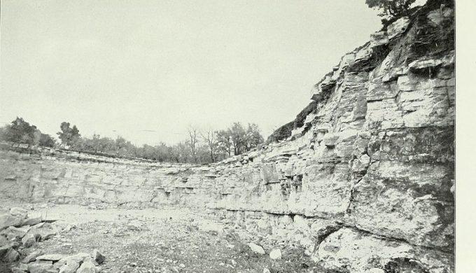 Limestone quarry west of Austin in 1880