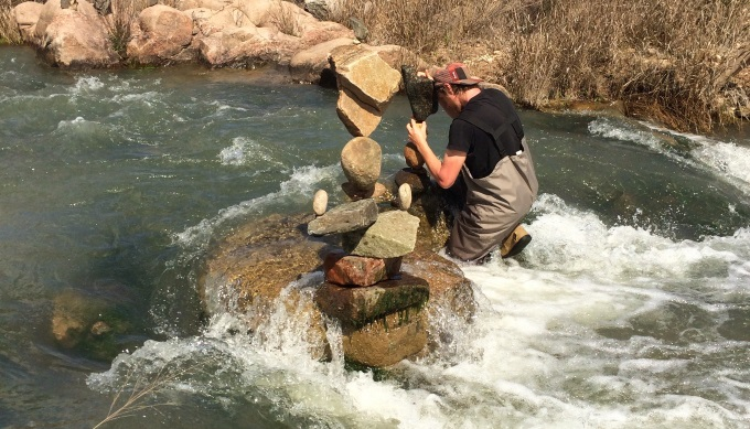 Llano Rock Stacking