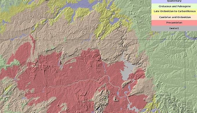 Llano Uplift Map