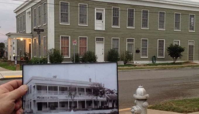 Magnolia Hotel Then and Now