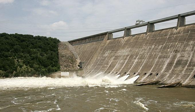 Mansfield Dam created Lake Travis on the Colorado River