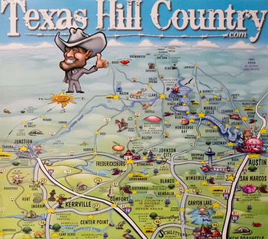 Map Of Texas Hill Country Area