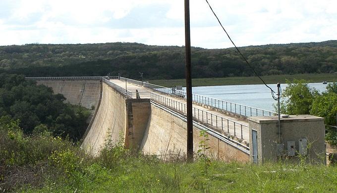 Medina Dam created Medina Lake which sits above Paradise Canyon
