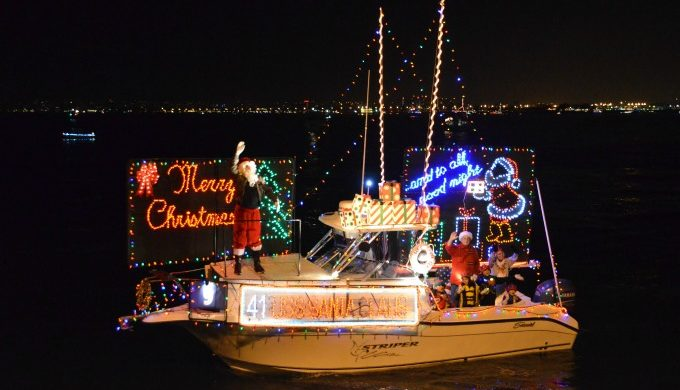 Merry Christmas boat