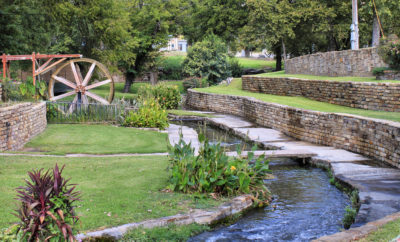 Mill Pond Park in San Saba, Texas