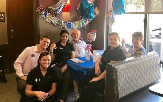 Chick-fil-A Throws Epic Birthday Bash for 100-Year-Old Man