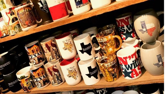 Mugs and more are some great gifts you'll find at Texas historic sites