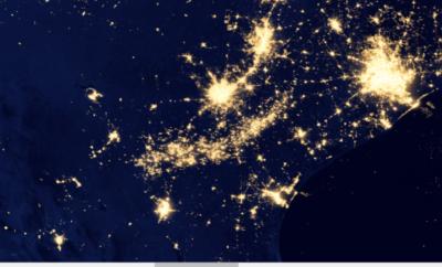 NASA view of Texas at night