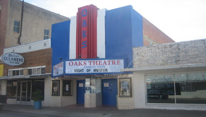 Theatre, historic, Pearsall, Texas Hill Country