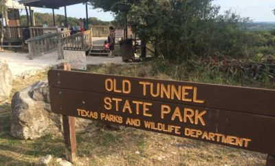 Old Tunnel State Park Sign, look for bats!