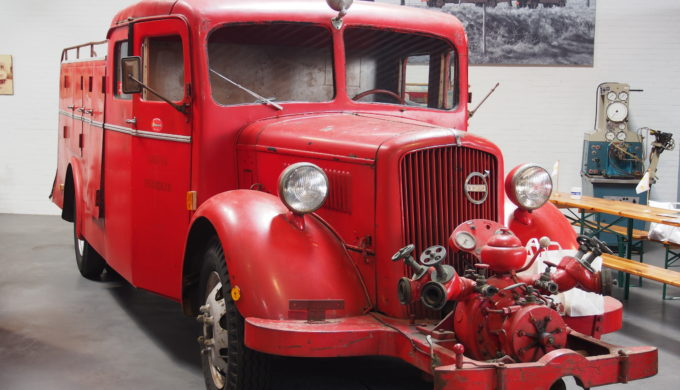 Old Red Volvo Fire Engine