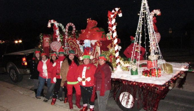 One of the many floats at the Carol of Lights Parade in Lampasas