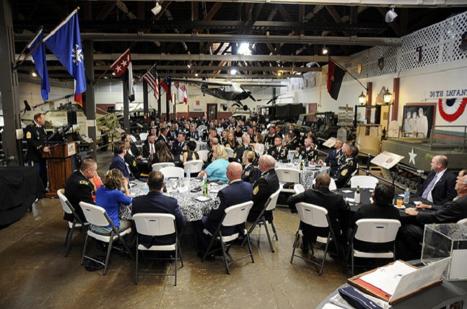 Banquet in the Great Hall of the Texas Miltary Forces Museum