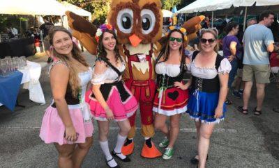 Owl with Ladies at NXNW Oktoberfest