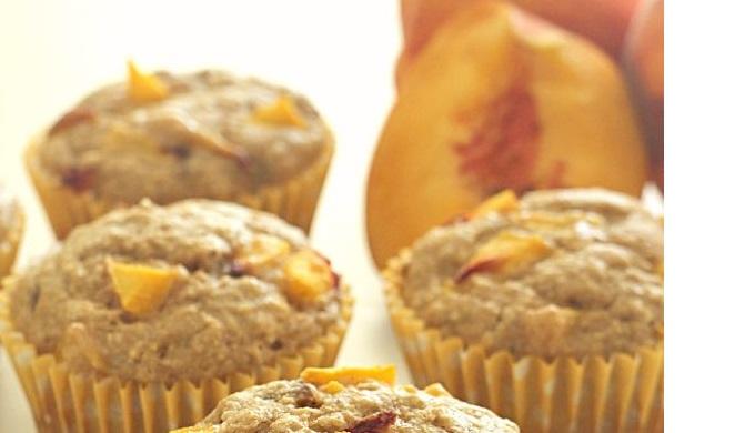 Peach Recipes Oatmeal Muffins
