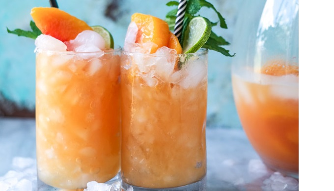 Pineapple Peach Agua Fresca