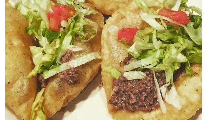 Puffy tacos from La Hacienda de los Barrios in San Antonio