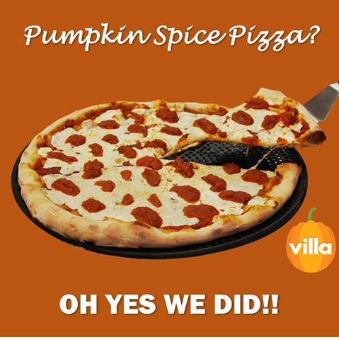 Pumpkin Spice Pizza from Villa Italian Kitchen