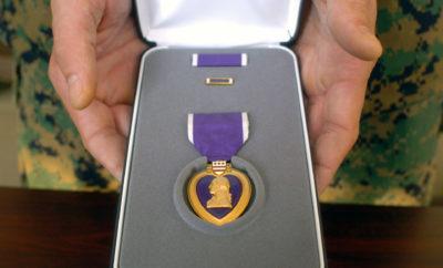 WWII veteran heart stolen