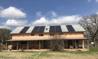 Renewable Energy Solar Home in Hill Country