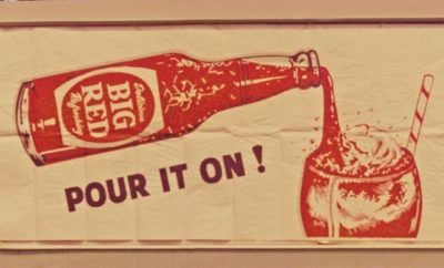 Retro Big Red Soda Ad