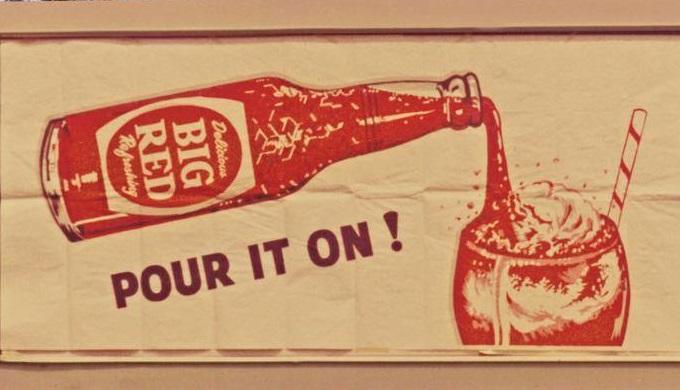 Retro Big Red Soda Ad