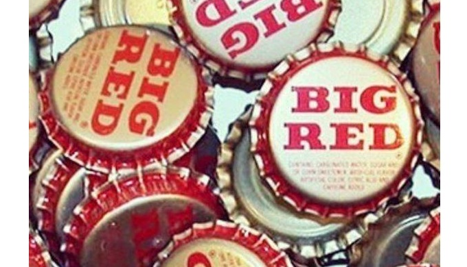 Retro Big Red Soda Bottle Caps