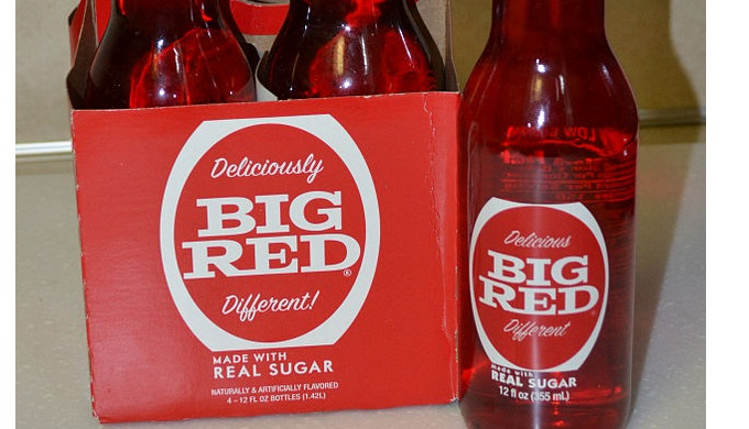 Retro Big Red Soda Made with Sugar