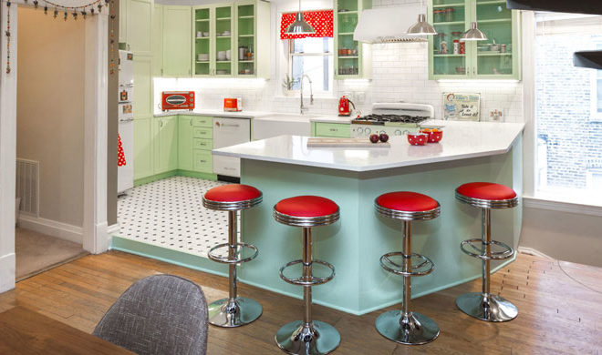 This Retro Kitchen Makeover Will Make You Nostalgic For Yesteryear - Retro-kitchen-design-you-never-seen-before