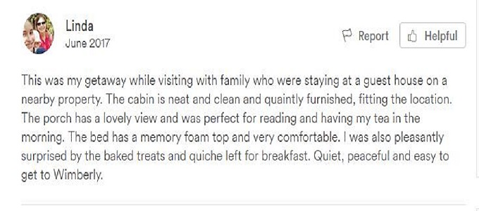 Review from Airbnb