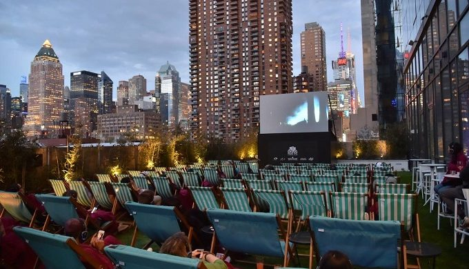 Catch a Movie Under the Stars at Rooftop Cinema Club in Houston