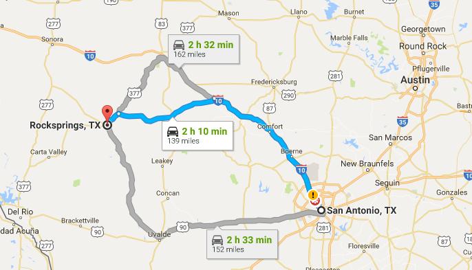 How did Rocksprings, Texas get its Name?