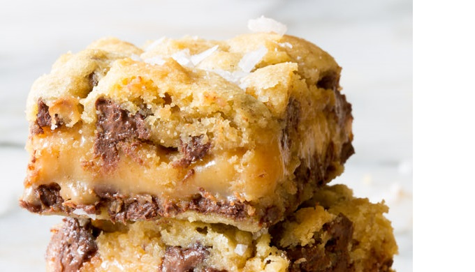 Salted Caramel Recipes Salted Caramel Chocolate Chip Cookie Bars