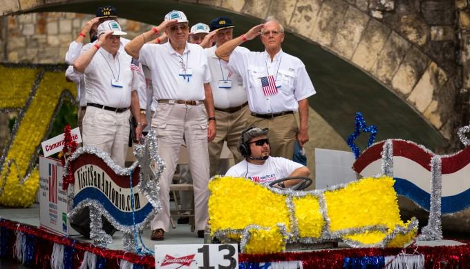 Saluting Soldiers at Riverwalk