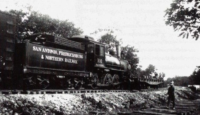 San Antonio Fredericksburg and Northern Railway tracks ran along what is today known as Old No 9 Highway