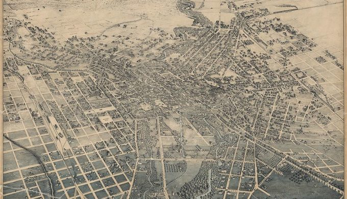 San Antonio in 1886 long before the River Walk flood control system was installed