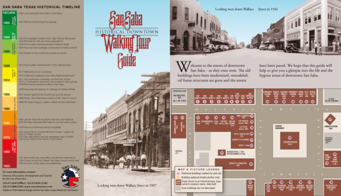 San Saba Historical Walking Tour Map