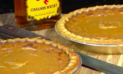 Fireball Cinnamon Whisky Pumpkin Pie
