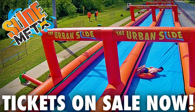 Slide Through Downtown Marble Falls on a Massive Water Slide