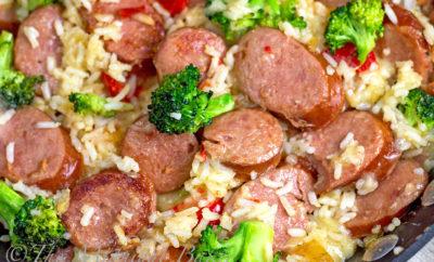 Smoked Sausage Rice Casserole