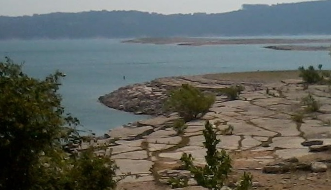 Sometimes Islands in Lake Travis emerging during a drought in 2012.