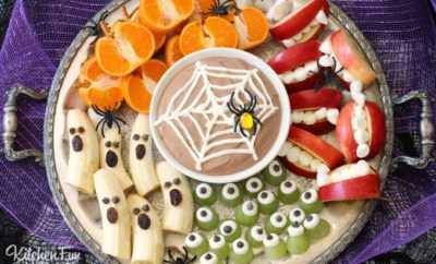Halloween fruit party tray