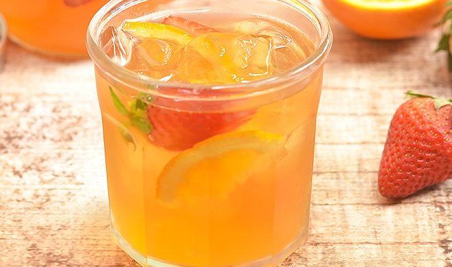 Iced Tea Recipes Strawberry Orange Refrigerator Tea