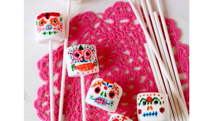 Sugar skull marshmallows