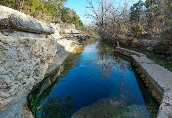This beautiful spot is the result of an underground artesian spring, and includes over 80 acres of surrounding natural area.