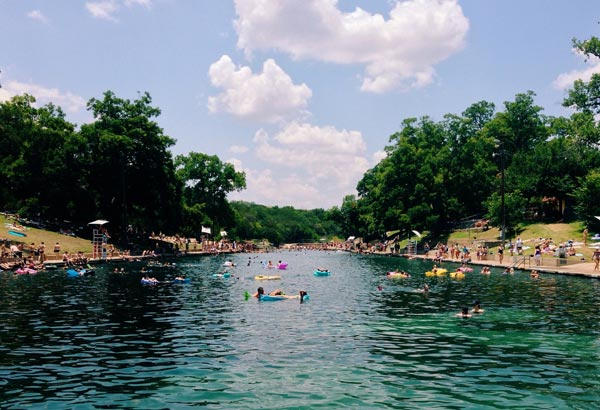 "This natural outdoor swimming ""pool"" is a great spot for Austin city dwellers and visitors to beat the heat from fresh, cool, natural spring water."