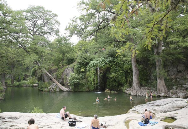 This next swimming hole is a popular 115 acre camping and swimming spot in Spicewood, Texas and is listed on the National Registry of Historic Sites.