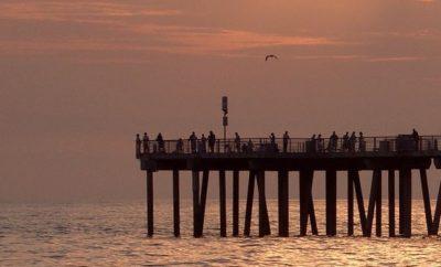 Sunset on Hermosa Beach in Summer