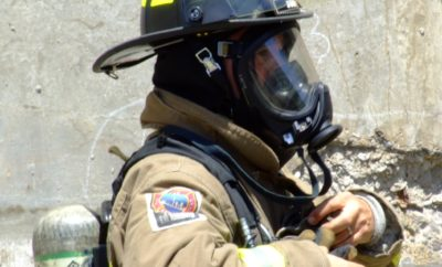 Firefighter Wearing SCBA