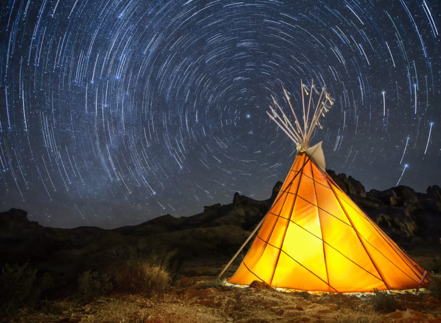 Star trails from Terlingua, Texas.